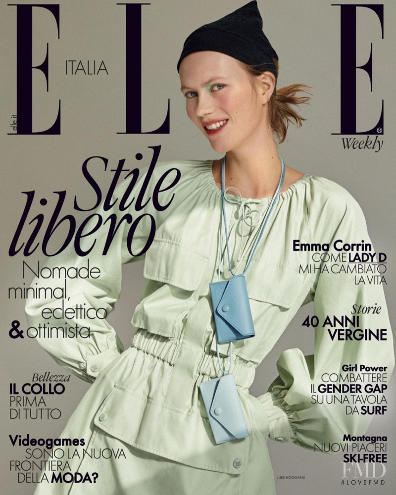 Julie Hoomans featured on the Elle Italy cover from January 2021