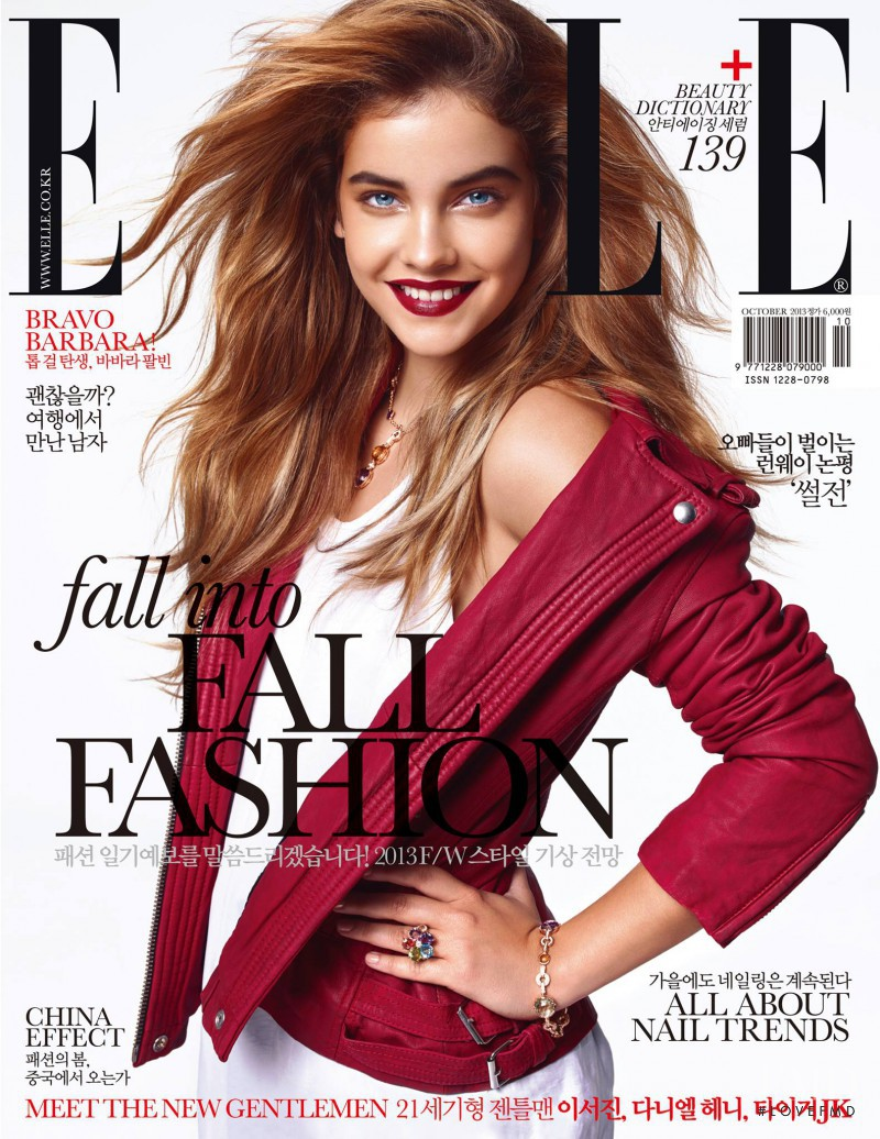 Barbara Palvin featured on the Elle Korea cover from October 2013