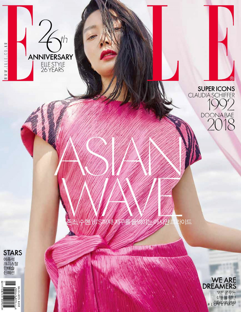 featured on the Elle Korea cover from November 2018