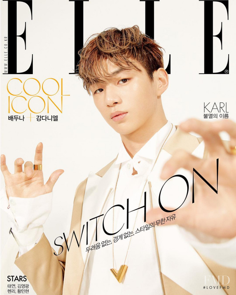 featured on the Elle Korea cover from April 2019