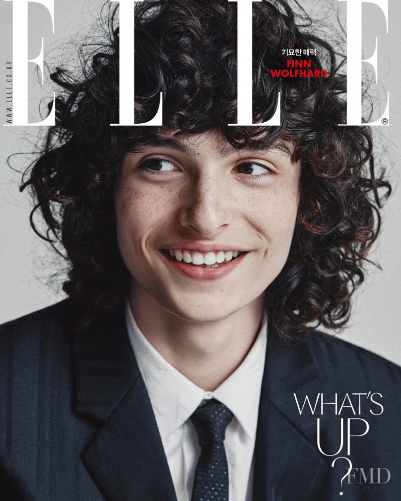 Fin Wolfhard featured on the Elle Korea cover from September 2019