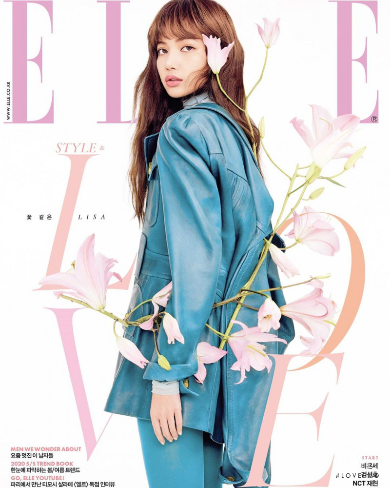 Lalisa Manoban featured on the Elle Korea cover from February 2020