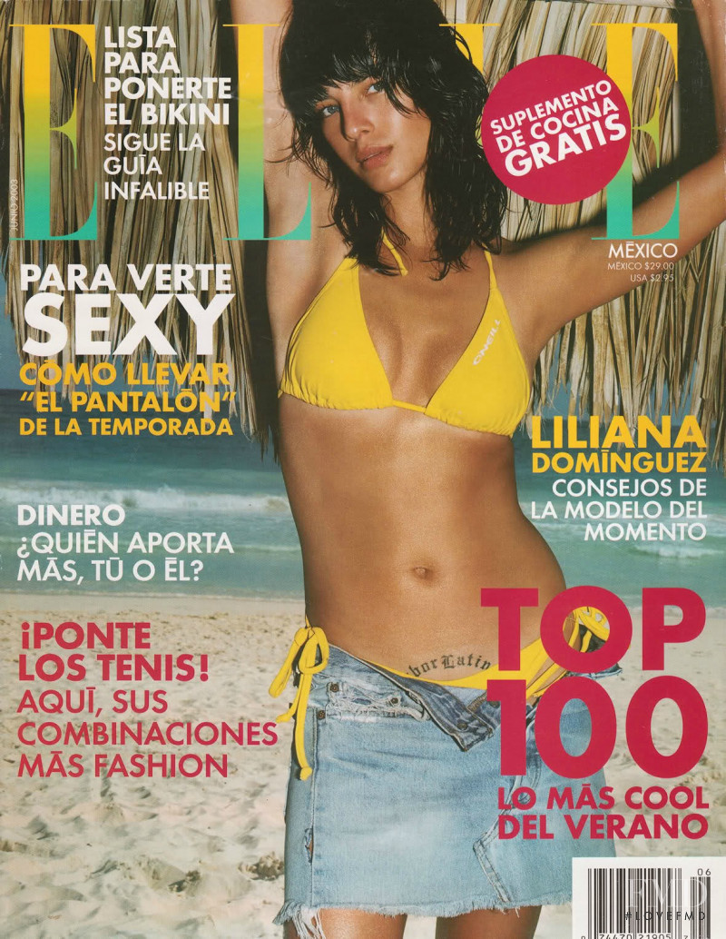 Liliana Dominguez featured on the Elle Mexico cover from June 2003