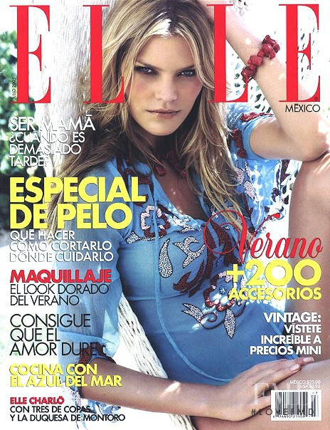May Andersen featured on the Elle Mexico cover from July 2005
