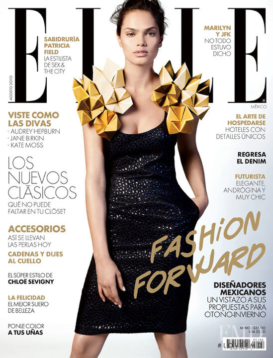 Lisalla Montenegro featured on the Elle Mexico cover from August 2010