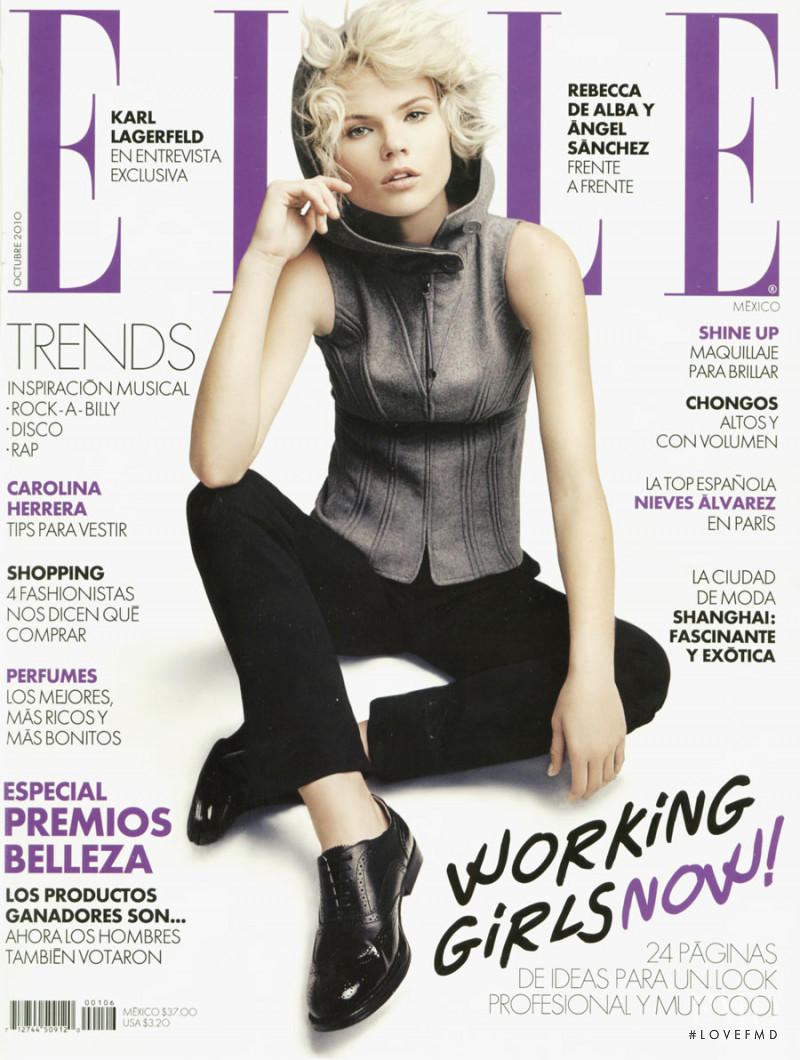 Heidi Walker featured on the Elle Mexico cover from October 2010