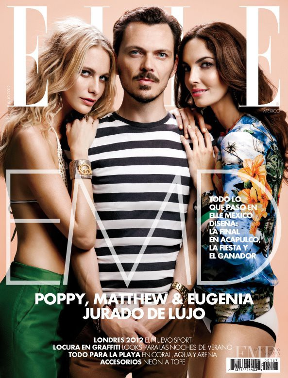 Eugenia Silva, Poppy Delevingne featured on the Elle Mexico cover from July 2012