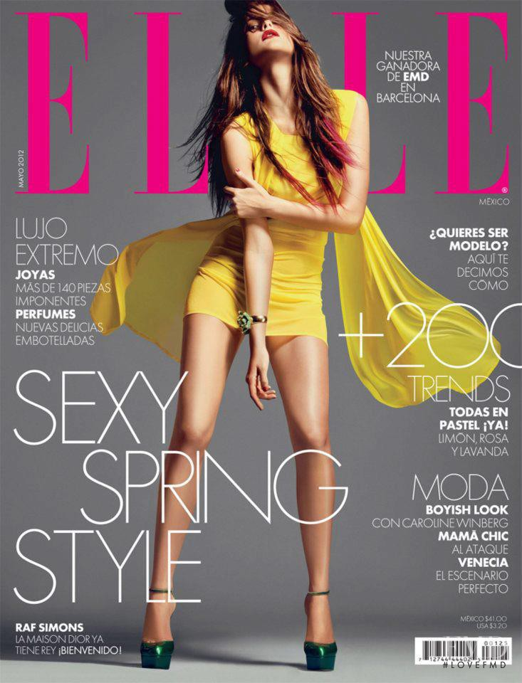 Katarina Ivanovska featured on the Elle Mexico cover from May 2012