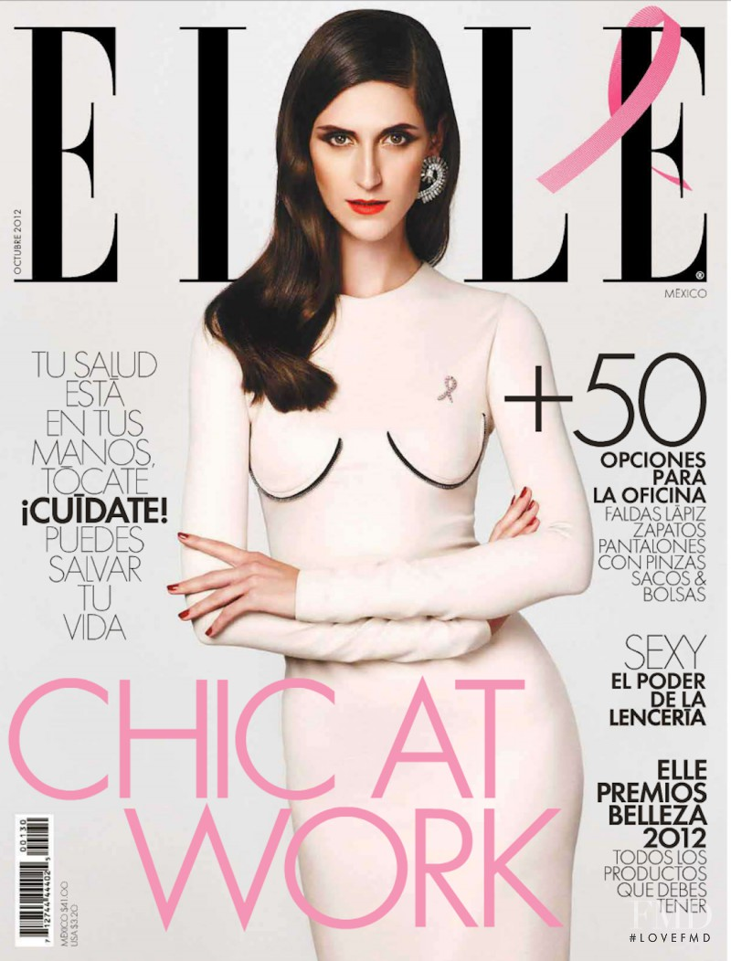 Daiane Conterato featured on the Elle Mexico cover from October 2012
