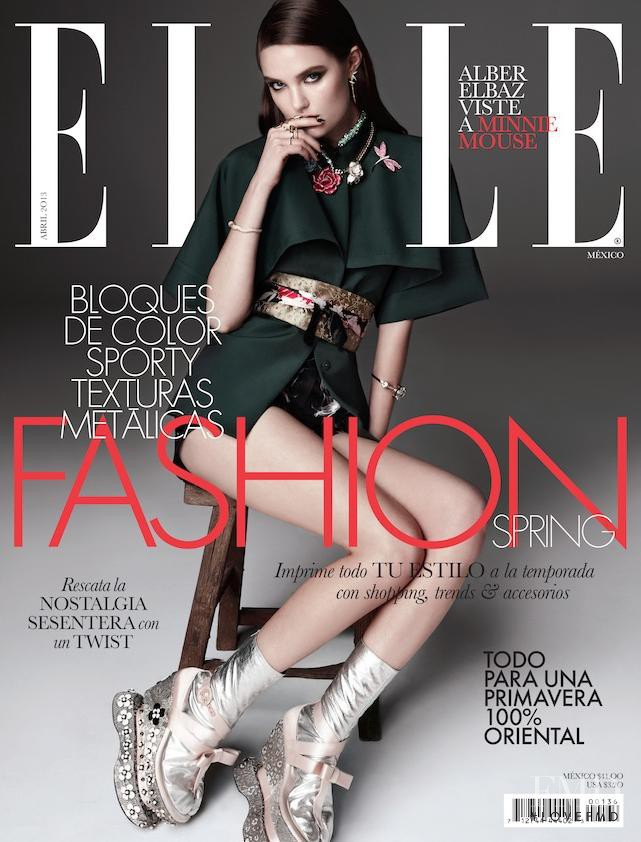 Katie Fogarty featured on the Elle Mexico cover from April 2013