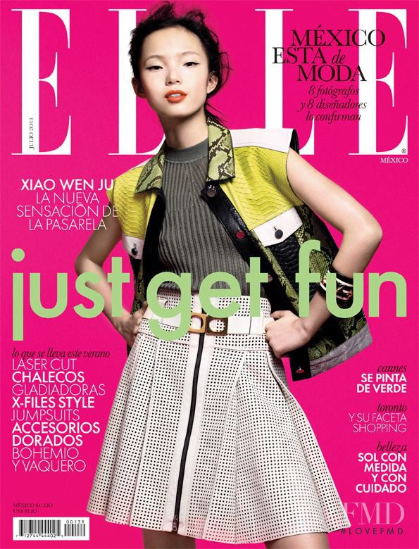 Xiao Wen Ju featured on the Elle Mexico cover from July 2013