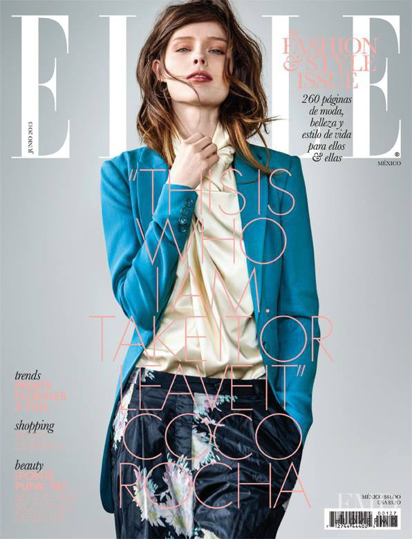 Coco Rocha featured on the Elle Mexico cover from June 2013