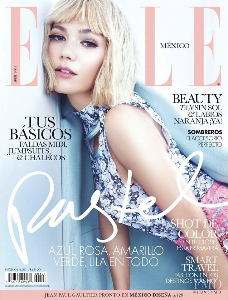 Sheila Marquez featured on the Elle Mexico cover from April 2014