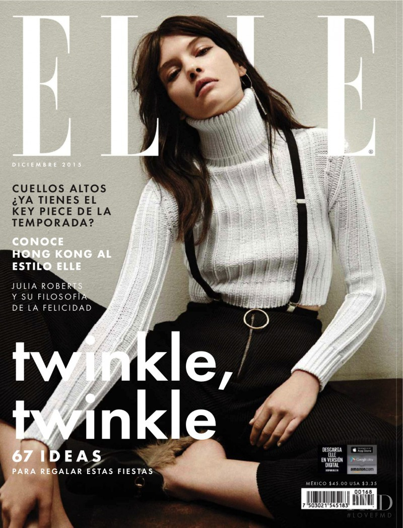 featured on the Elle Mexico cover from December 2015