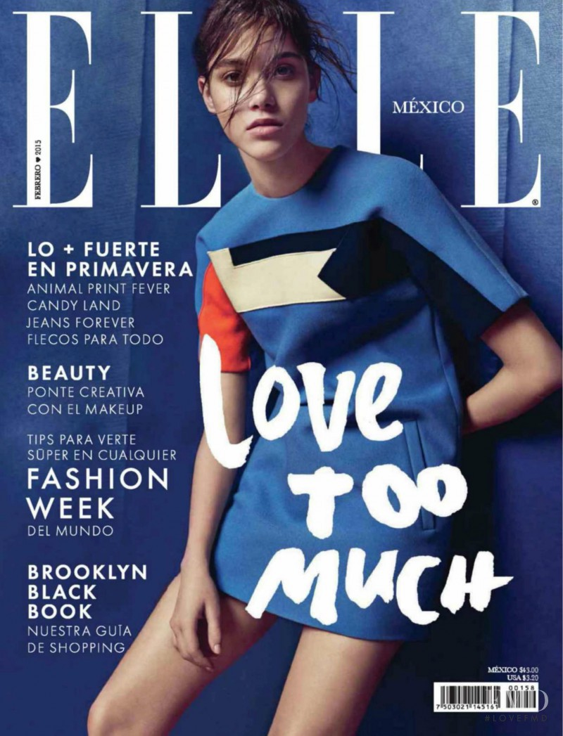 Pauline Hoarau featured on the Elle Mexico cover from February 2015