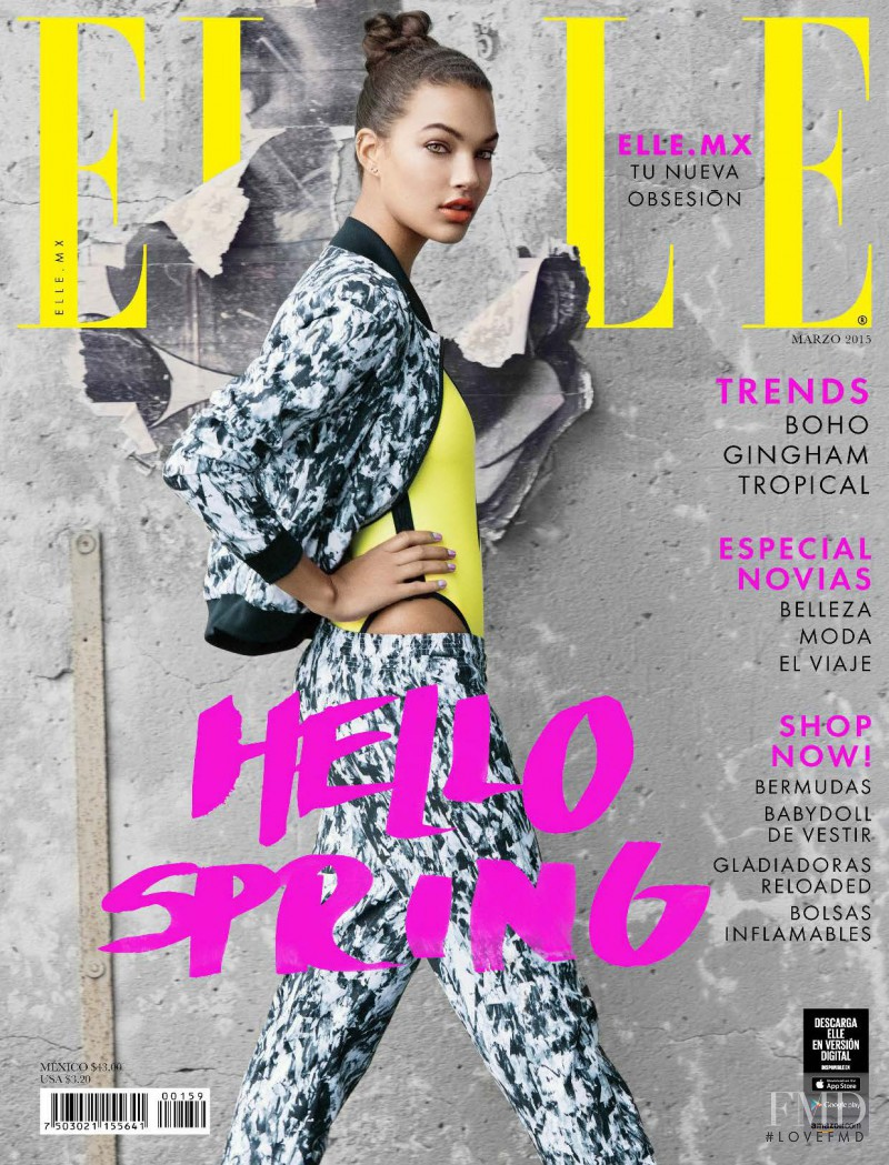 Jessica Strother featured on the Elle Mexico cover from March 2015
