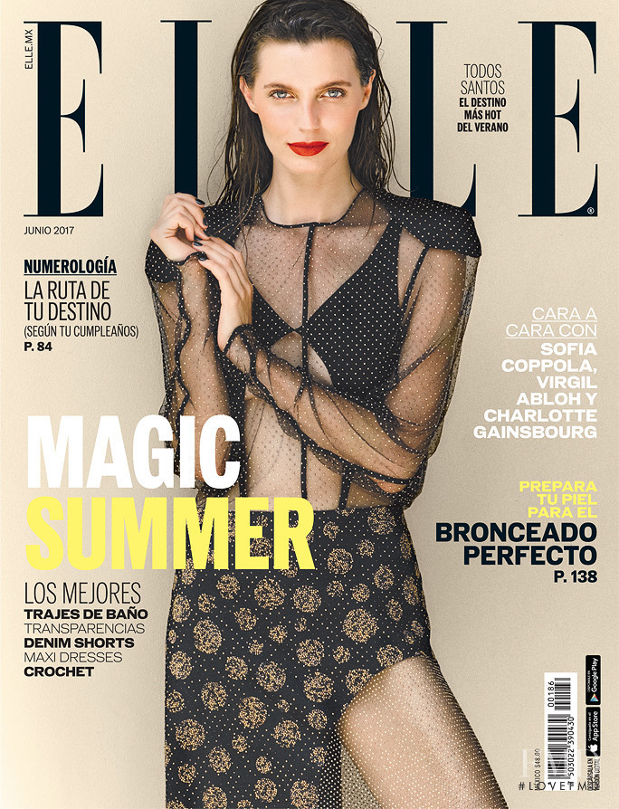 Lola McDonnell featured on the Elle Mexico cover from June 2017