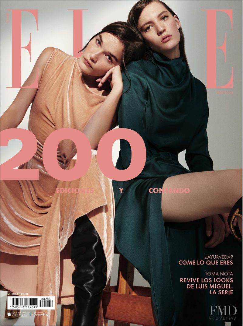 Jessica Sikosek featured on the Elle Mexico cover from August 2018