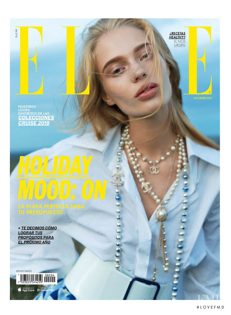 featured on the Elle Mexico cover from December 2018