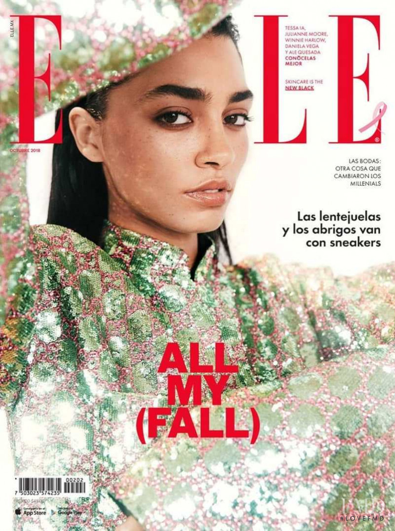 featured on the Elle Mexico cover from October 2018