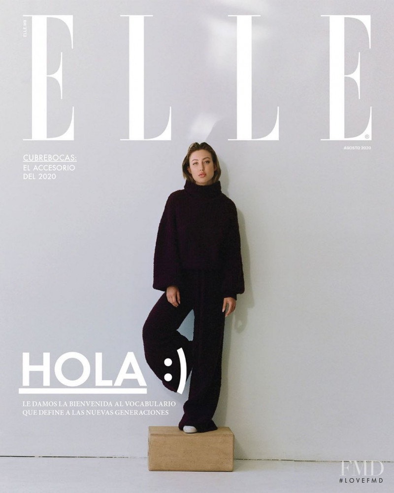 Stefanie Gurzanski featured on the Elle Mexico cover from August 2020