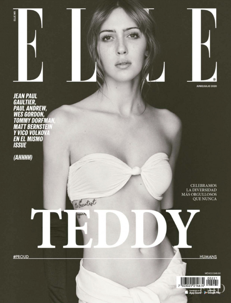 Teddy Quinlivan featured on the Elle Mexico cover from June 2020
