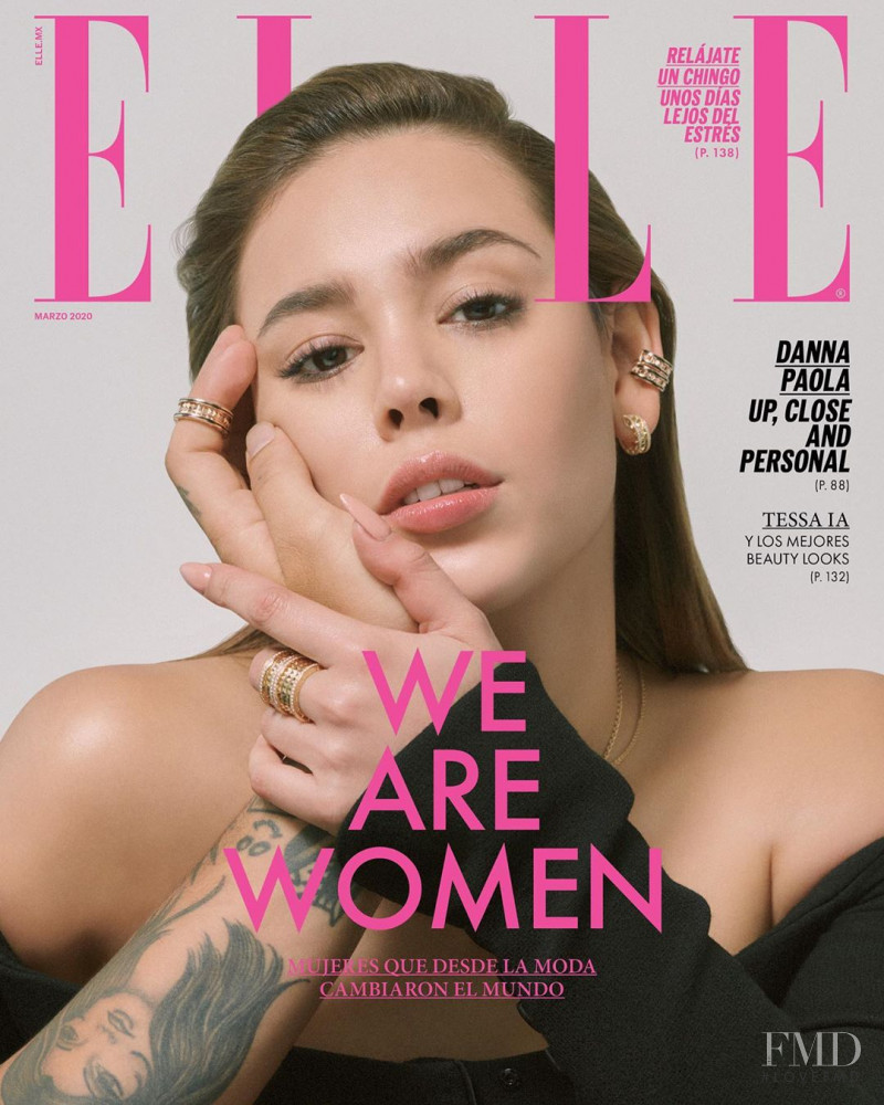 featured on the Elle Mexico cover from March 2020