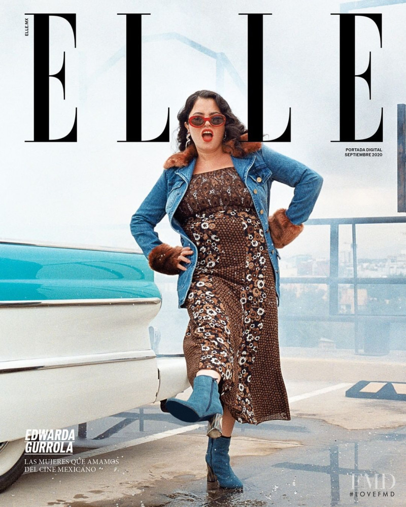 Edwarda Gurrola  featured on the Elle Mexico cover from September 2020