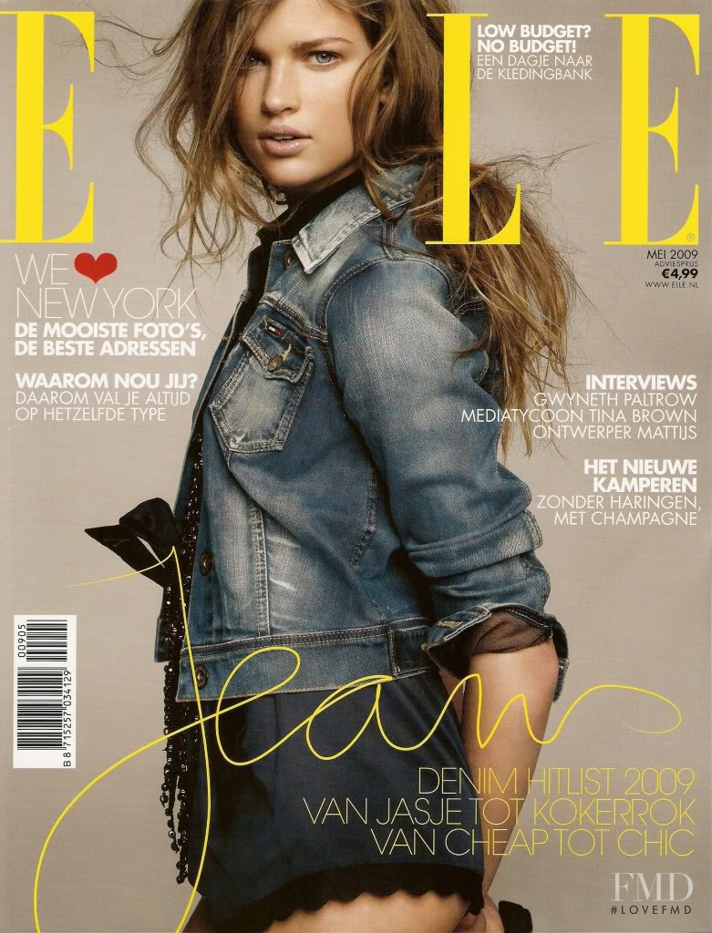 Bette Franke featured on the Elle Netherlands cover from May 2009