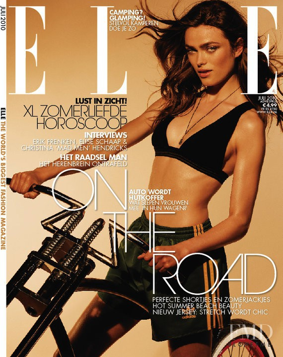 Sophie Vlaming featured on the Elle Netherlands cover from July 2010