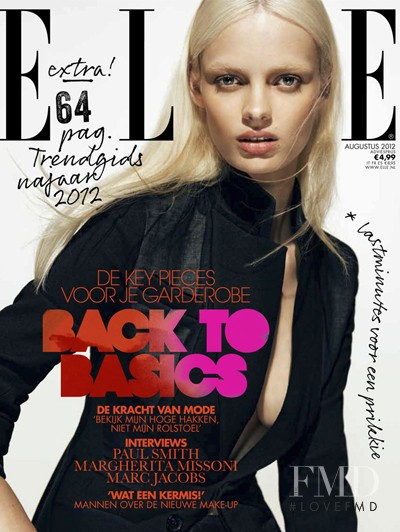 Stef van der Laan featured on the Elle Netherlands cover from August 2012