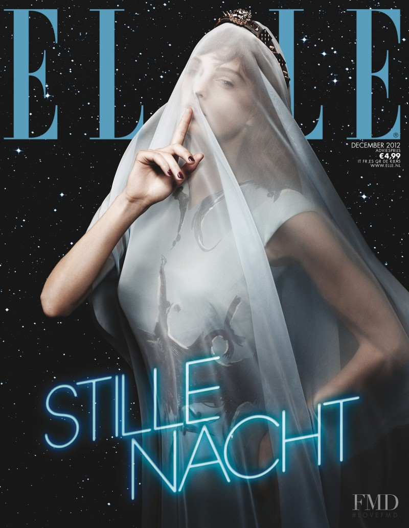 Patricia van der Vliet featured on the Elle Netherlands cover from December 2012
