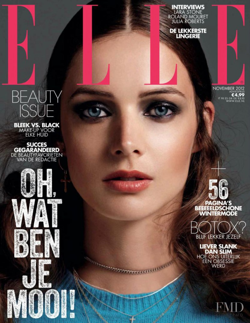 Charon Cooijmans featured on the Elle Netherlands cover from November 2012