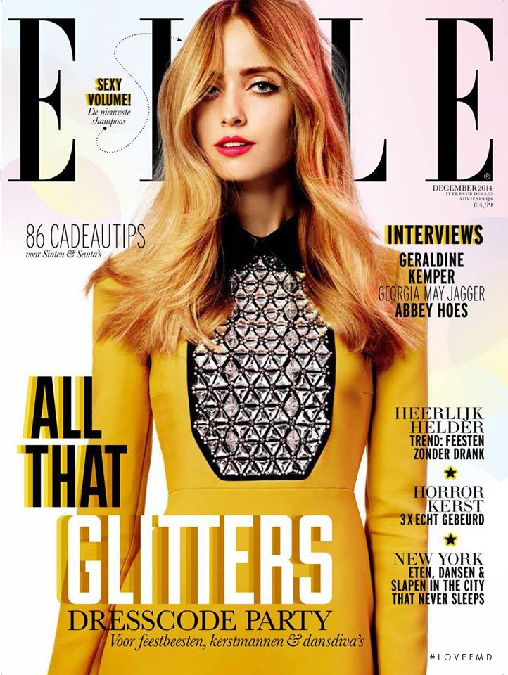 featured on the Elle Netherlands cover from December 2014