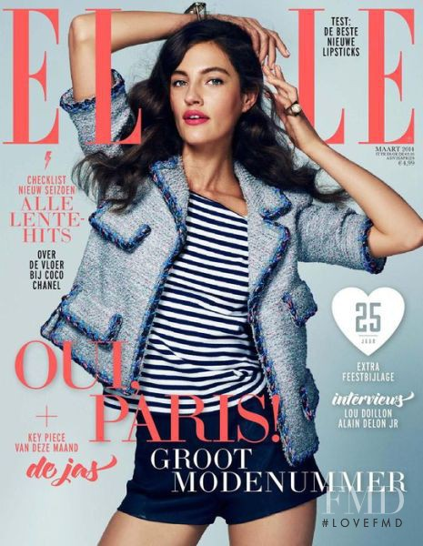 Lucie von Eugen featured on the Elle Netherlands cover from March 2014