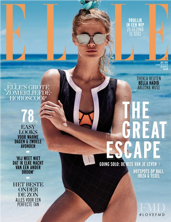 Ymre Stiekema featured on the Elle Netherlands cover from April 2015