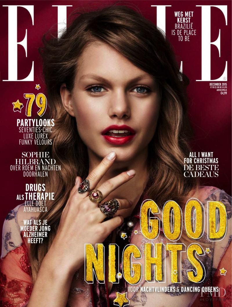 Annika Krijt featured on the Elle Netherlands cover from December 2015