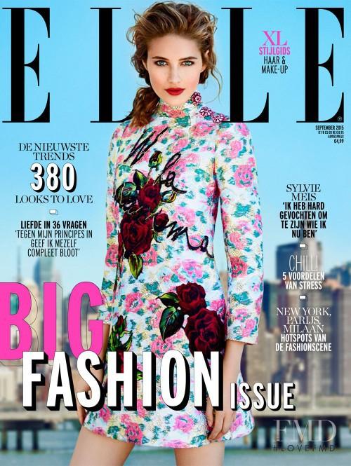 Sanne Vloet featured on the Elle Netherlands cover from September 2015