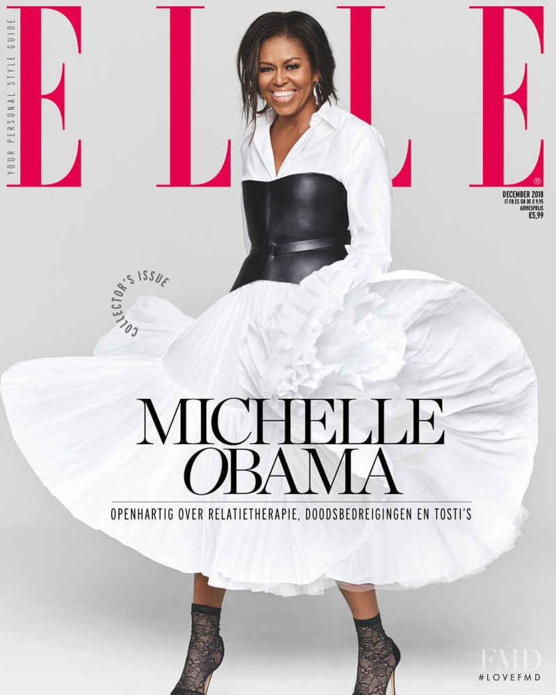 Michelle Obama featured on the Elle Netherlands cover from December 2018