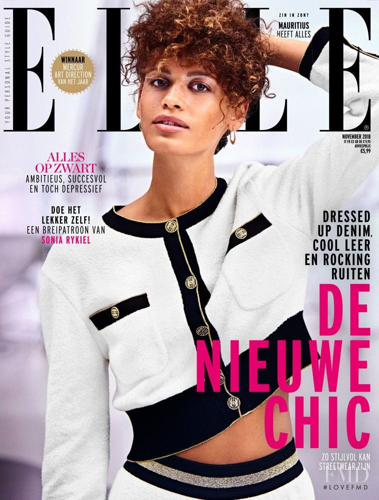 featured on the Elle Netherlands cover from November 2018