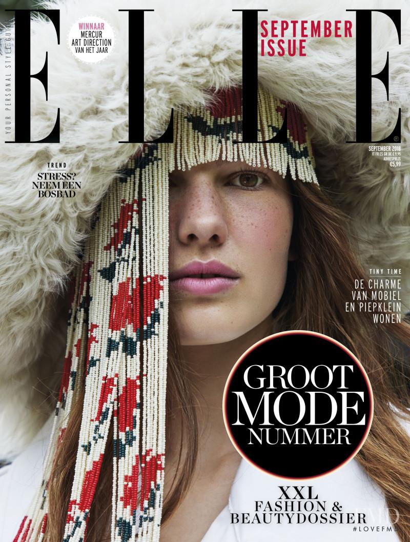 Roos Van Elk featured on the Elle Netherlands cover from September 2018