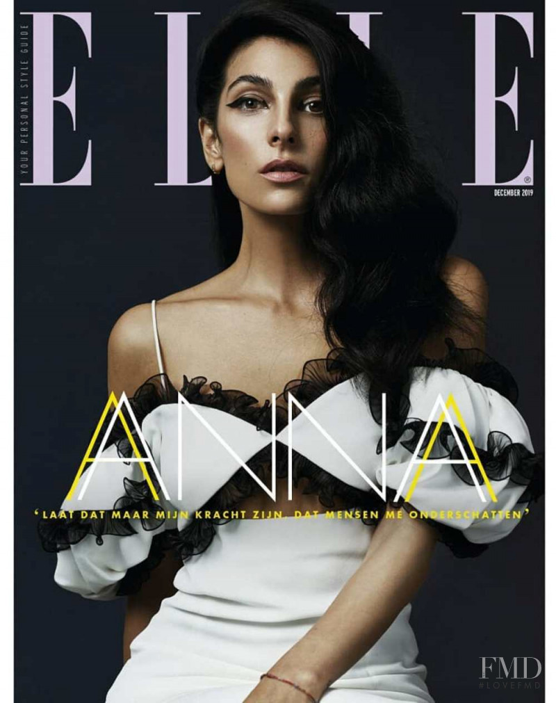 Anna Nooshin featured on the Elle Netherlands cover from December 2019