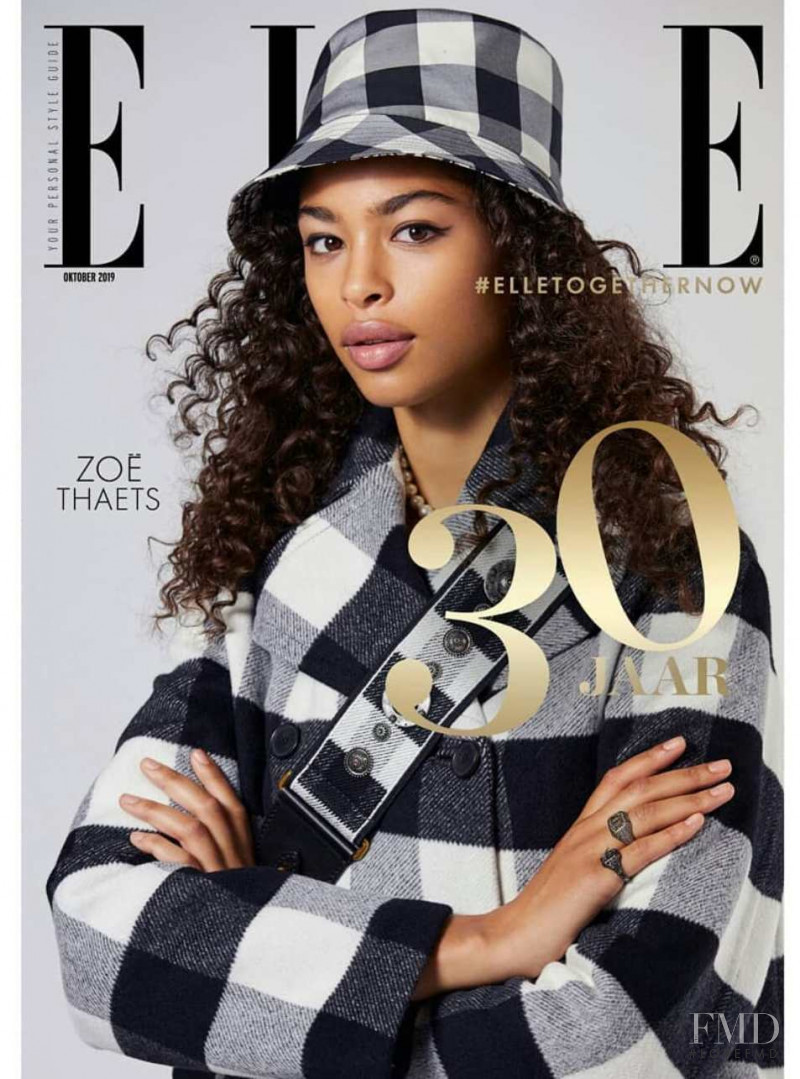 Zoe Thaets featured on the Elle Netherlands cover from October 2019
