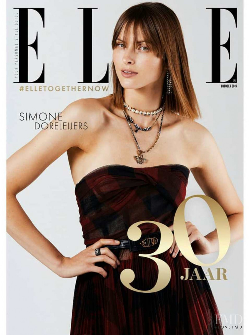 Simone Doreleijers featured on the Elle Netherlands cover from October 2019