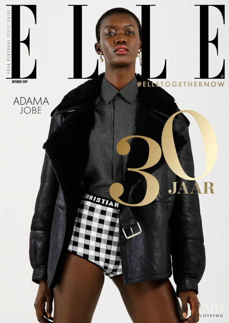 Adama Jobe featured on the Elle Netherlands cover from October 2019