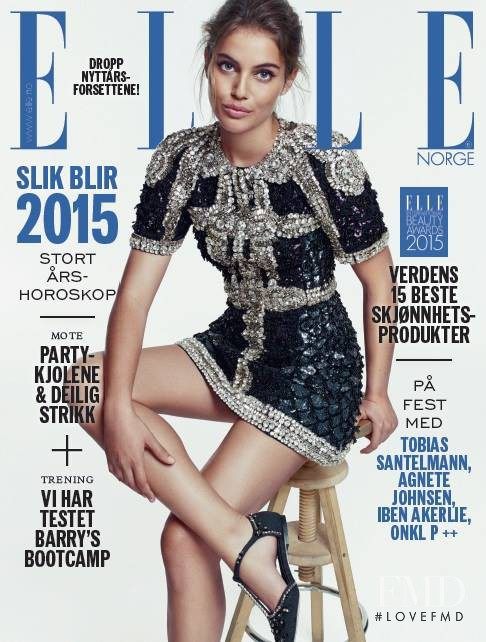 Shlomit Malka featured on the Elle Norway cover from December 2014