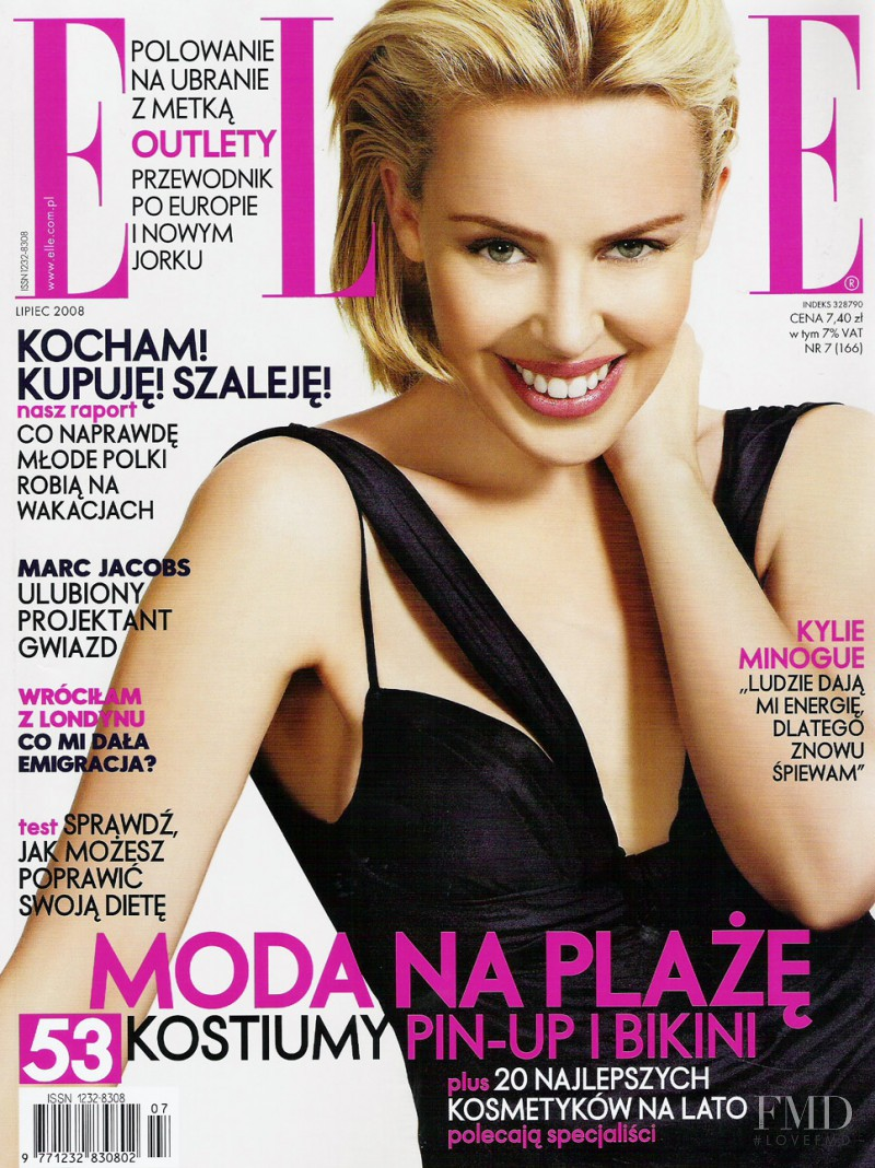 Kylie Minogue featured on the Elle Poland cover from July 2008