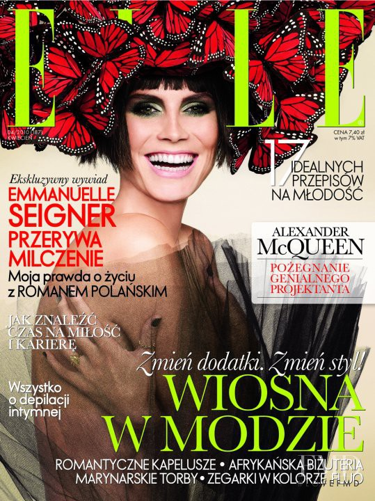 Heidi Klum featured on the Elle Poland cover from April 2010