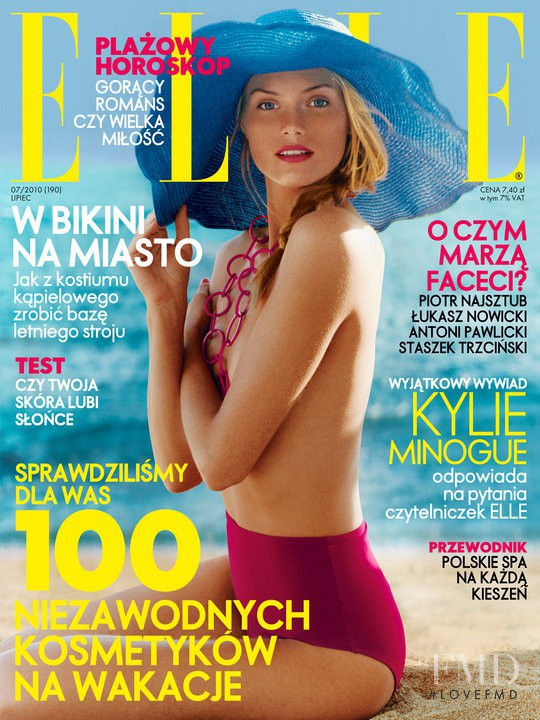Mini Anden featured on the Elle Poland cover from July 2010
