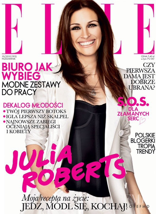 Julia Roberts featured on the Elle Poland cover from October 2010
